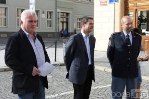 Jaromír Strnad pokřtil novou cisternovou automobilovou stříkačku Tatra 815